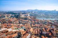 Panorama Porto, widok z wieży Igreja e Torre dos Clérigos