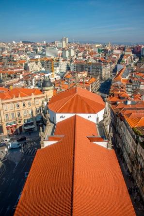 widok z wieży Igreja e Torre dos Clérigos