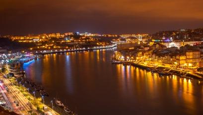 Porto nocą
