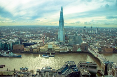 Widok ze Sky Garden, The Shard 306m