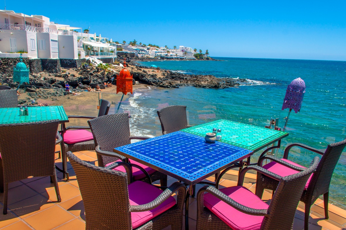 Cafe la Ola w Puerto de Carmen
